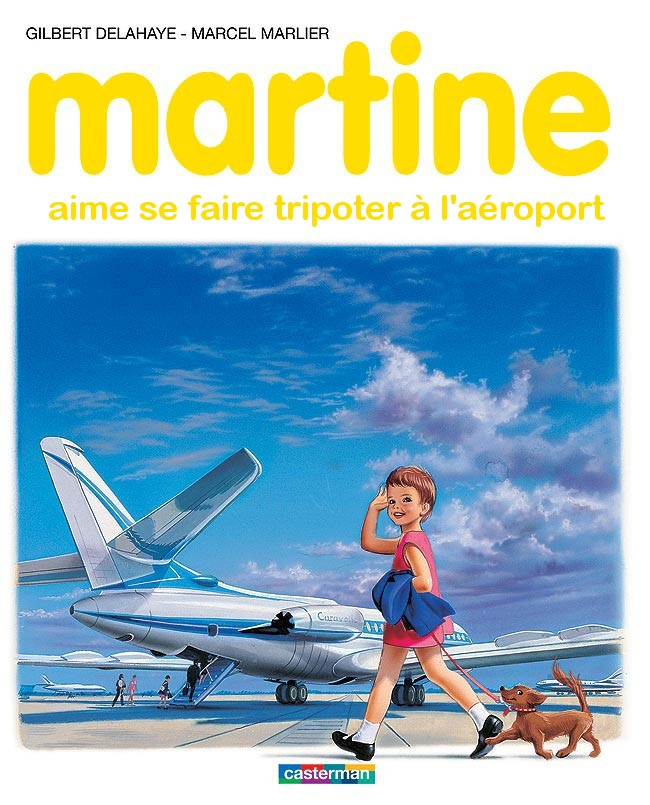Martine à l'aéroport